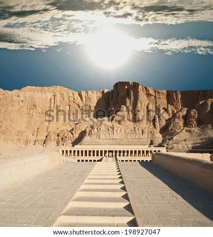 Hatshepsut temple  - stock photo
