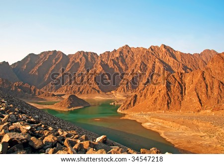 Hatta Lake - stock photo