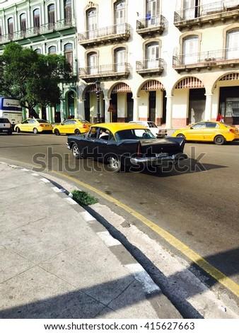HAVANA - APRIL 27: Details of old buildings in Old Havana (Havana Vieja), Havana, Cuba on April 28, 2016 - stock photo