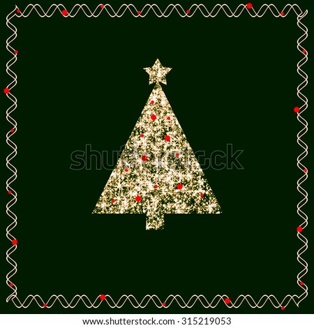 Have a merry little Christmas  - stock photo