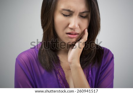 Have a toothache - stock photo