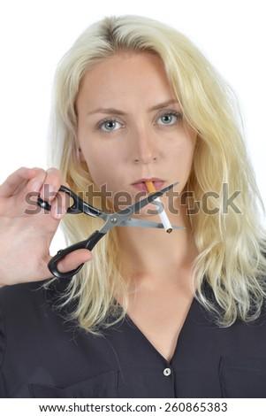 Have to stop smoking - stock photo