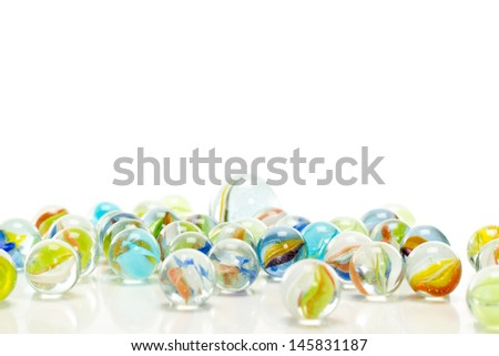 Have you ever played with marbles in your childhood? - stock photo