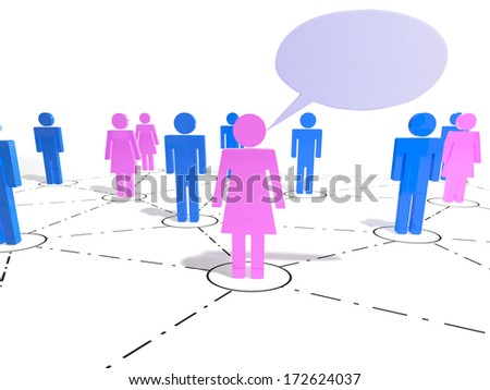 Have your say in a group of people - stock photo
