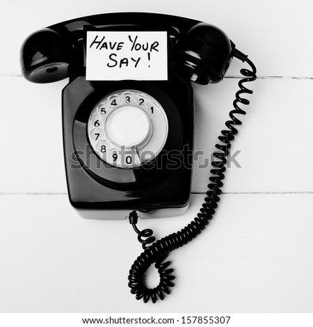 Have your say telephone concept - stock photo