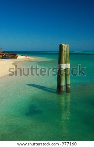 Haven: Beach of Dry Tortugas National park, florida - stock photo