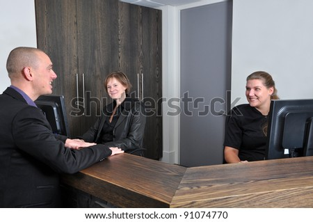 Having an appointment with the dentist - stock photo
