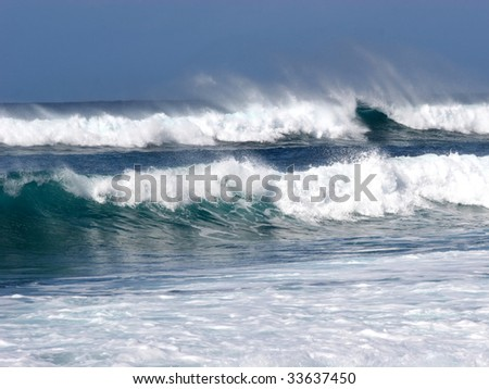 Hawaii beach waves - stock photo