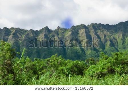 Hawaii mountains - stock photo
