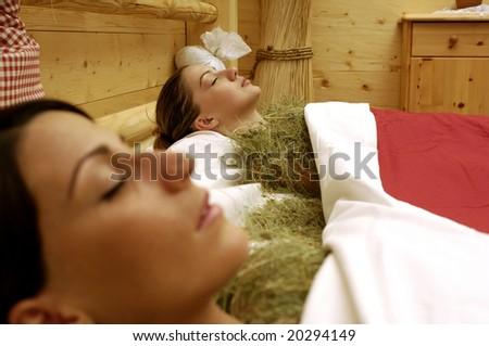 Hay Bath - stock photo