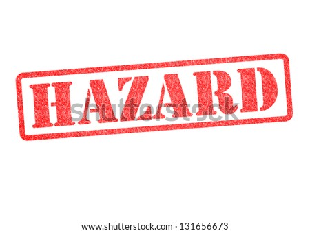 HAZARD Rubber Stamp over a white background. - stock photo
