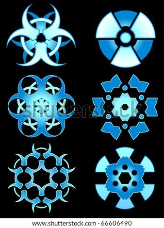 Hazardous snow designs - raster - stock photo