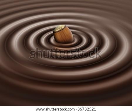 Hazelnut chocolate - stock photo