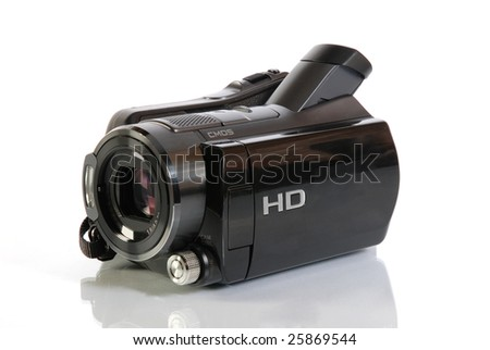 HD camcorder video camera - stock photo