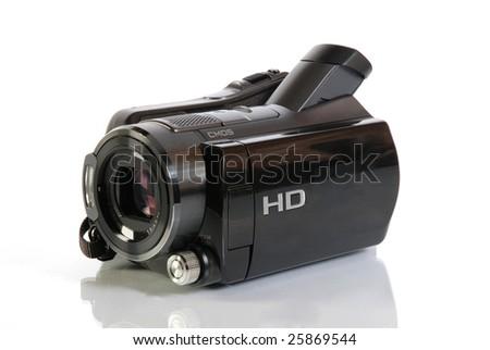 HD camcorder video camera - stock photo