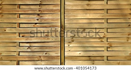 HD seamless background, wooden fence natural color with knots - stock photo