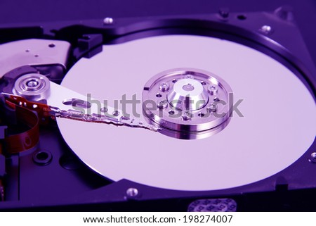 HDD as a background - stock photo