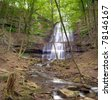 HDR image of Sherman Falls in Hamilton, Ontario, Canada in the springtime - stock photo