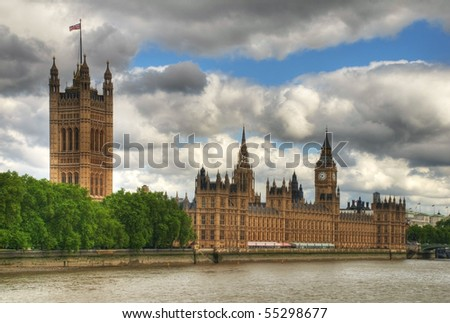 HDR image of Westminster, London. - stock photo