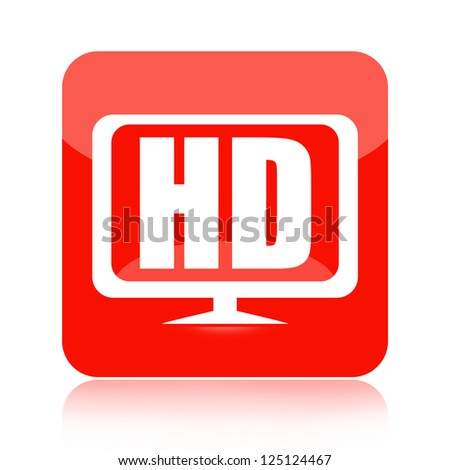 HDTV icon - stock photo