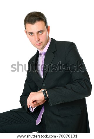 he appreciates the time and does not like being late - stock photo
