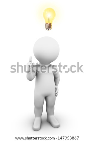 He has a great Idea and wants to tell you. - stock photo
