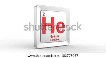 He symbol 2 material for Helium chemical element of the periodic table - stock photo