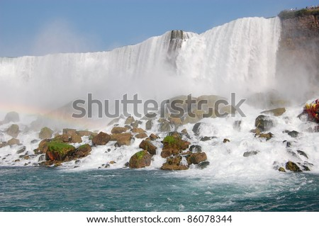 he waterfall - stock photo