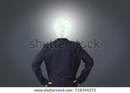 head brightness - stock photo