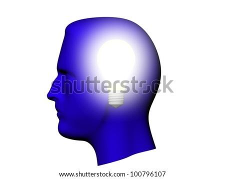 Head light bulb. - stock photo