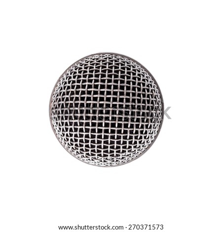 head microphone isolated on white background - stock photo