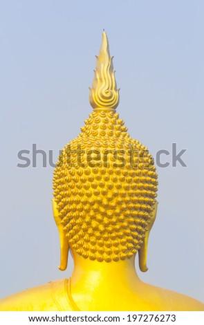 Head of big buddha in Wat Muang, Ang Thong, Thailand. - stock photo