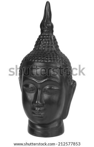 Head of Buddha isolated - stock photo