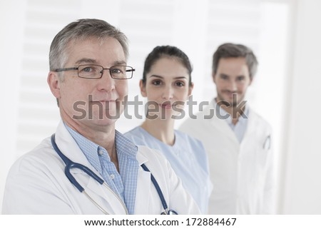 Head of Clinical and his Medical Team - stock photo