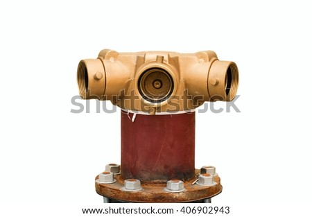 head pump fire fighting on the floor isolated on white background,head of water for fire-fighting. - stock photo