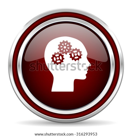 head red glossy web icon  - stock photo