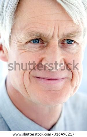 Head shot of a senior businessman - stock photo