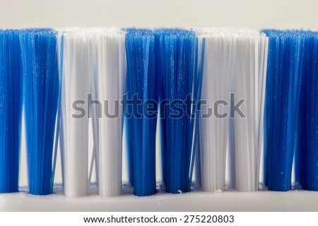 Head toothbrush close up side view - stock photo