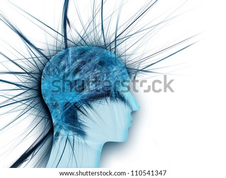 head with a spiked as the concept of stress - stock photo