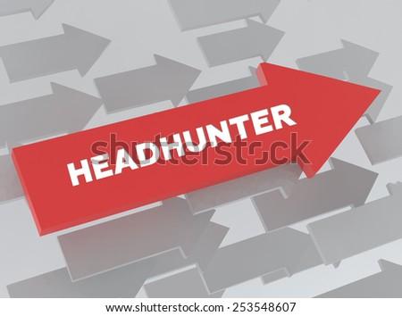 HEADHUNTER - stock photo