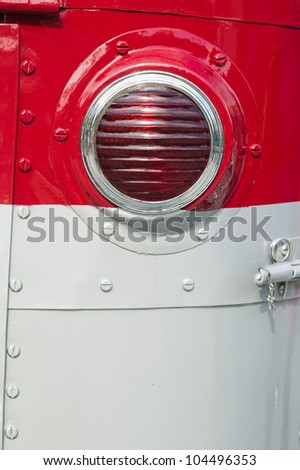 Headlight of the ancient car - stock photo