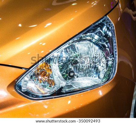 Headlights, Car lights - stock photo