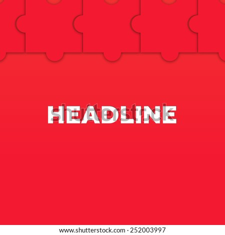 HEADLINE - stock photo