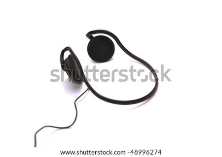 Headphone isolated on white - stock photo