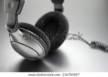 Headphones, closeup - stock photo