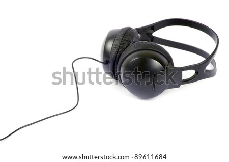 headphones isolated on a white - stock photo
