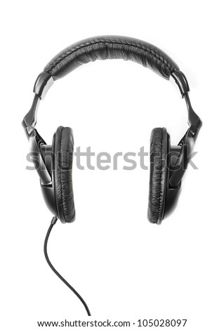 Headphones isolated on white background - stock photo