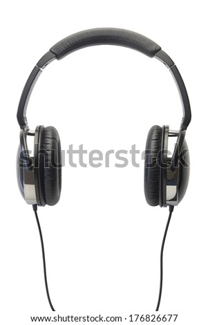 headphones isolated with clipping path - stock photo