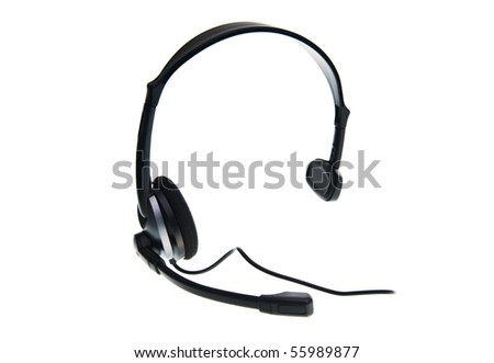 Headset on a white background - stock photo