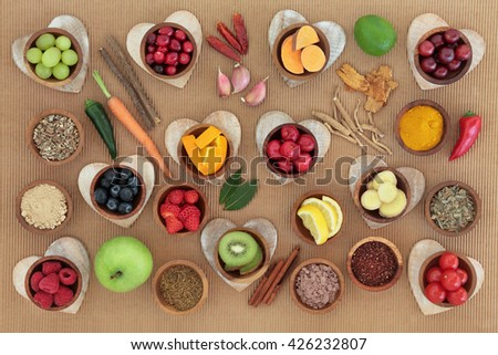 Health and super food  to boost immune system, high in antioxidants, minerals and vitamins. Also good for cold and flu remedy. - stock photo